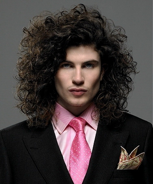 2013 Long Curly Hairstyles for Men Get a Trendy Look   Shaggy Hairstyles for Men
