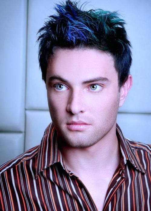 Blue Color Hairstyles Men Hairstyles for Thick Hair