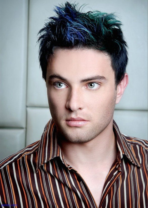Men Hairstyles Blue Color