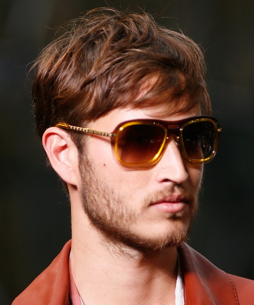 Red Color Wavy Hair Wavy Hairstyles for Men