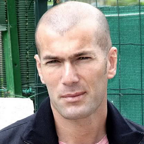 Zinedine Zidane Hairstyles Hairstyles for Balding Men